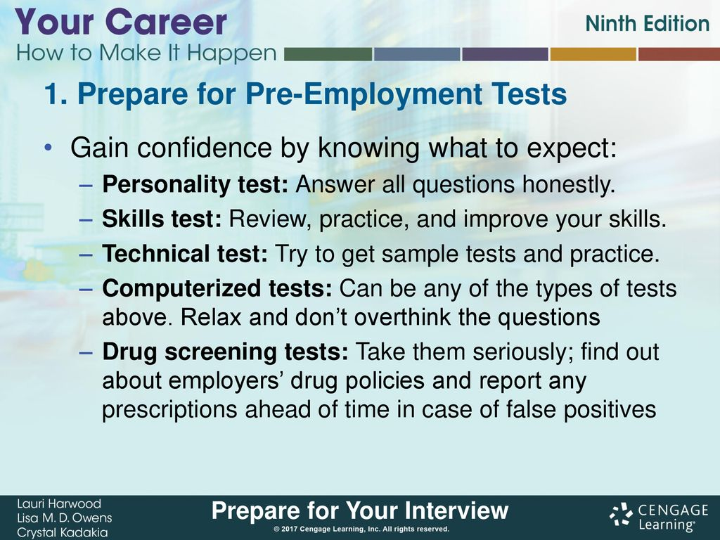 Prepare for Your Interview - ppt download