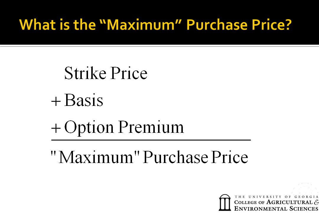 What is the Maximum Purchase Price