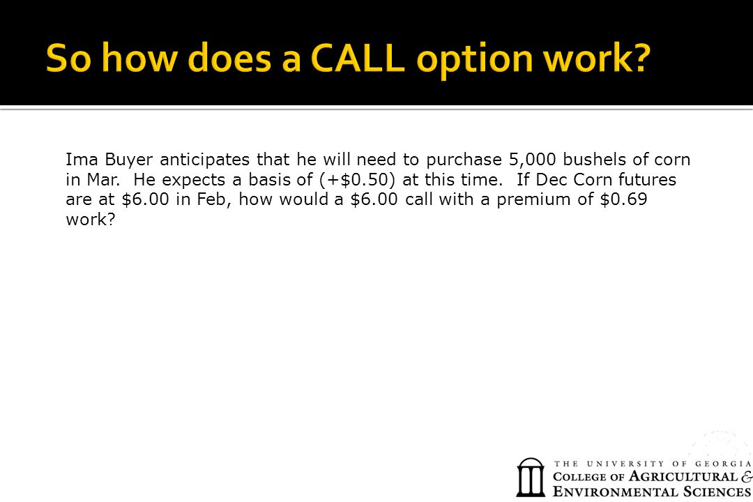 So how does a CALL option work