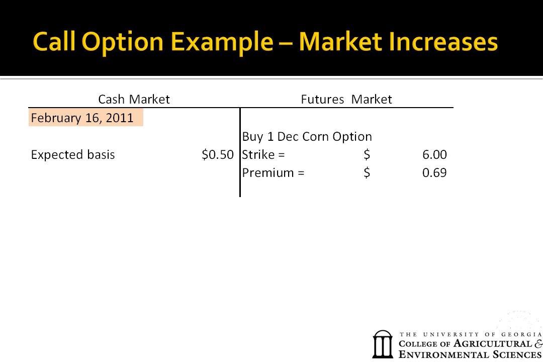 Call Option Example – Market Increases