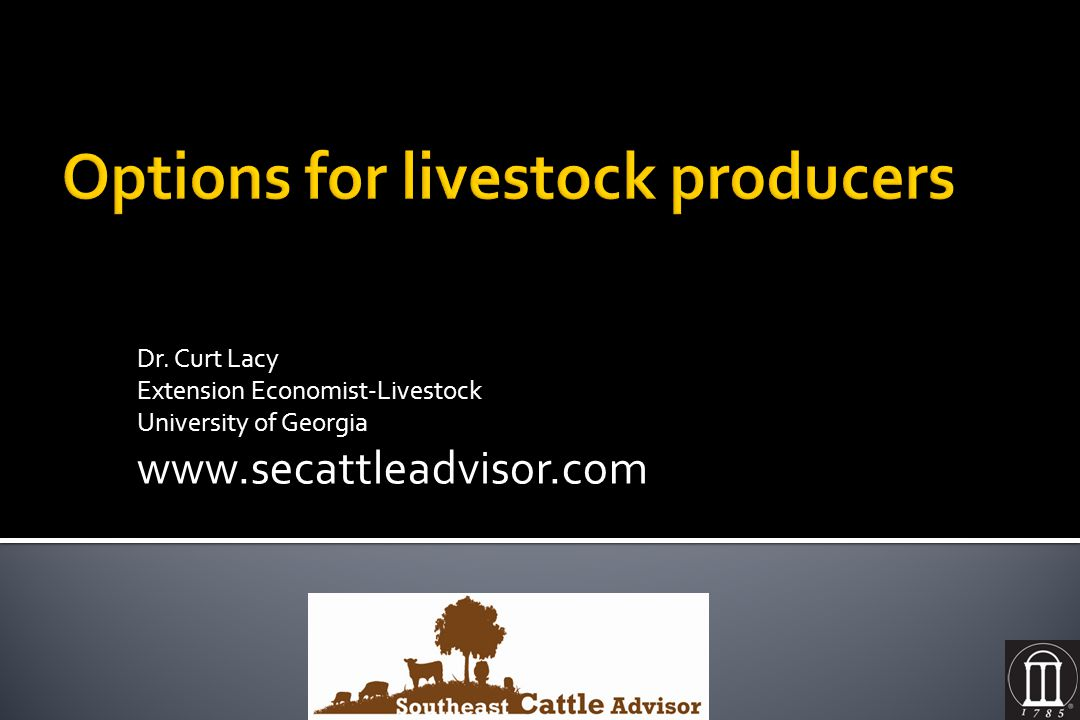 Options for livestock producers