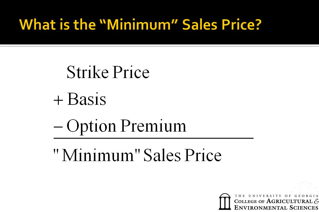 What is the Minimum Sales Price
