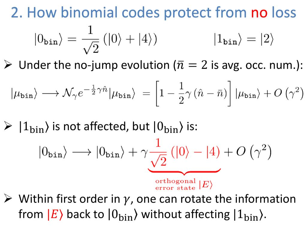 New quantum error-correcting codes for a bosonic mode - ppt download