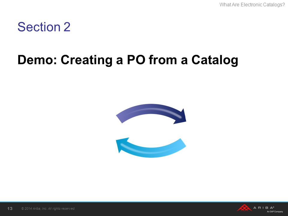 Demo: Creating a PO from a Catalog