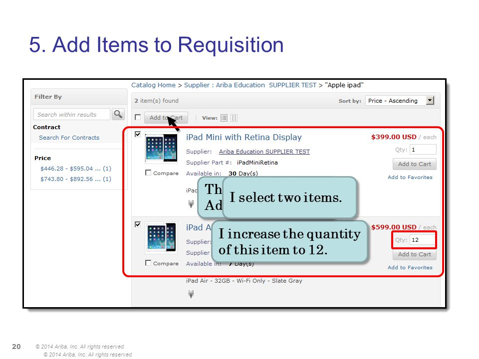 5. Add Items to Requisition
