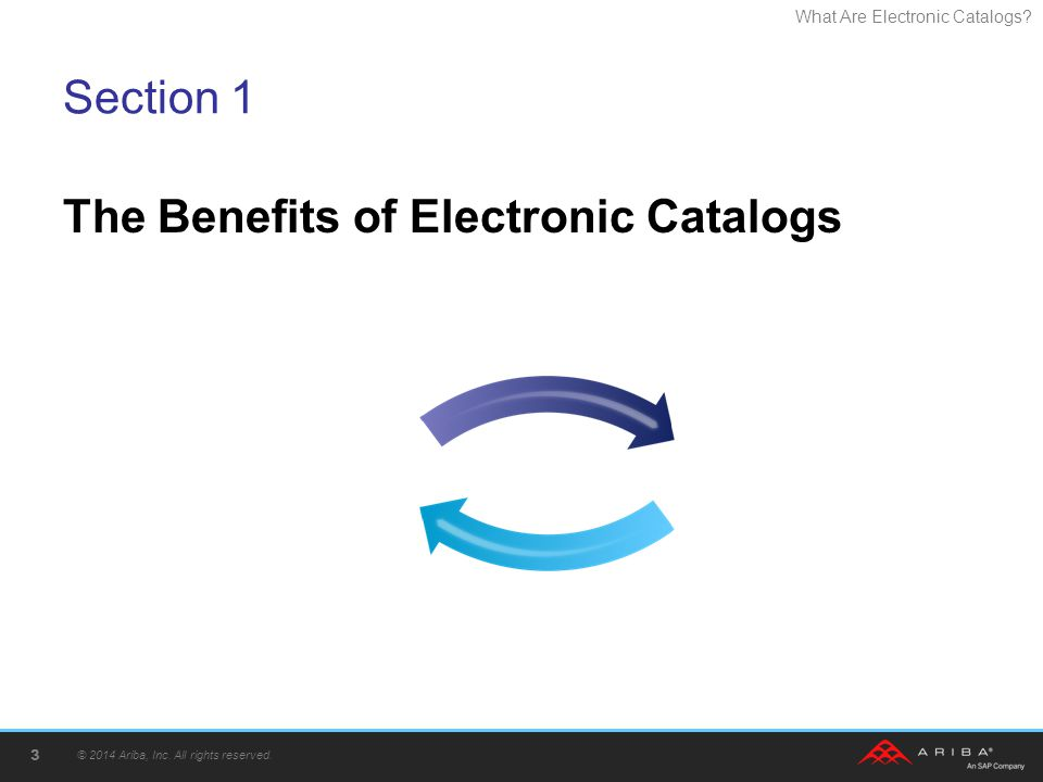 The Benefits of Electronic Catalogs