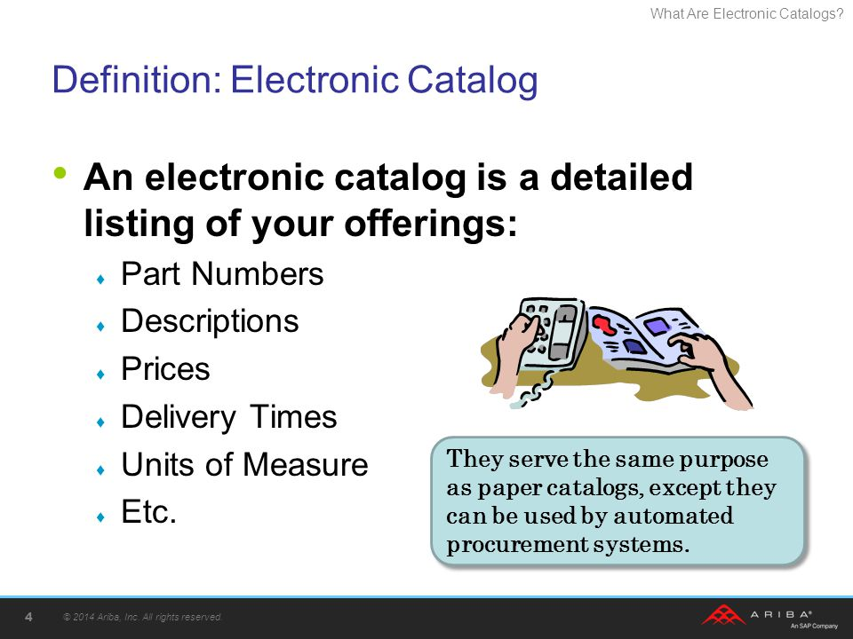 Definition: Electronic Catalog