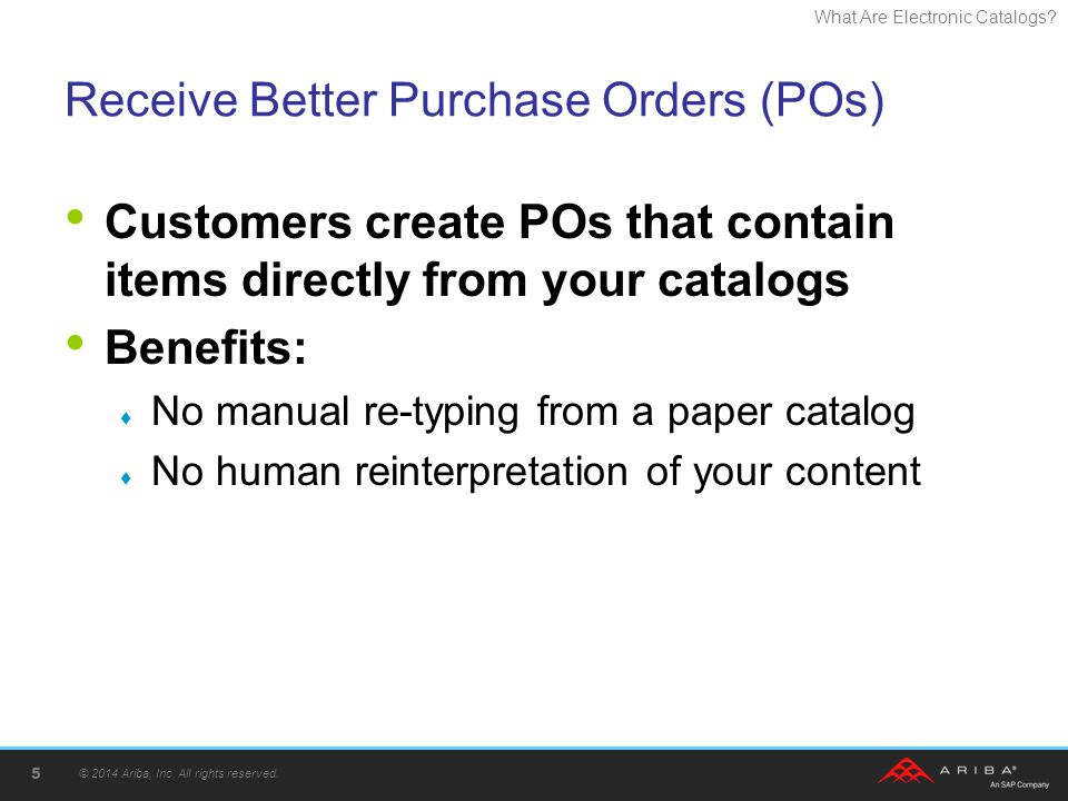 Receive Better Purchase Orders (POs)