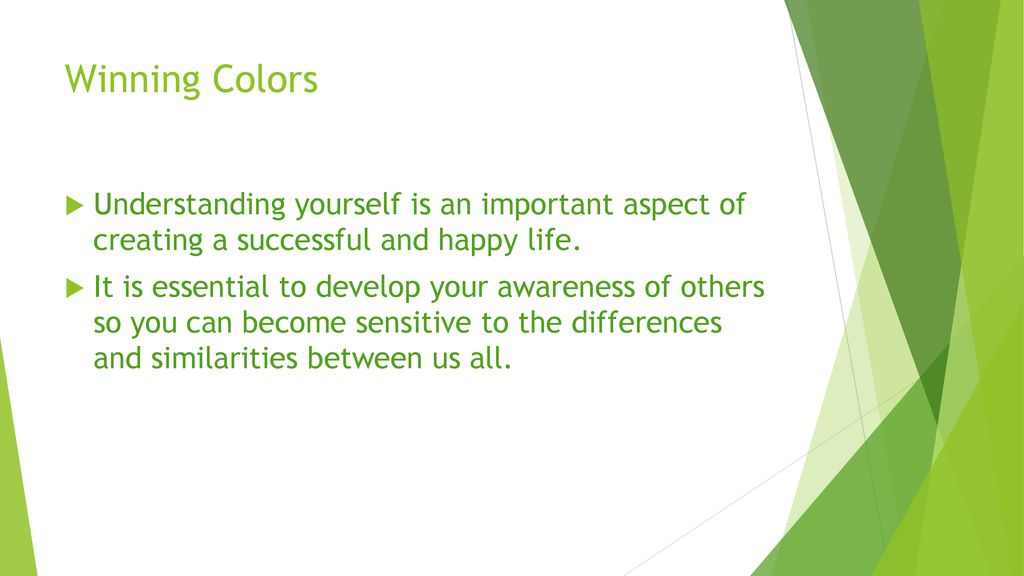 Winning Colors  - ppt download