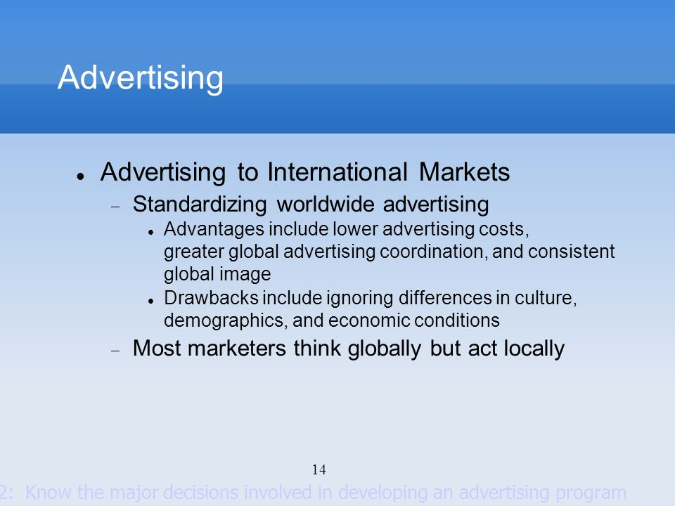 Advertising Advertising to International Markets