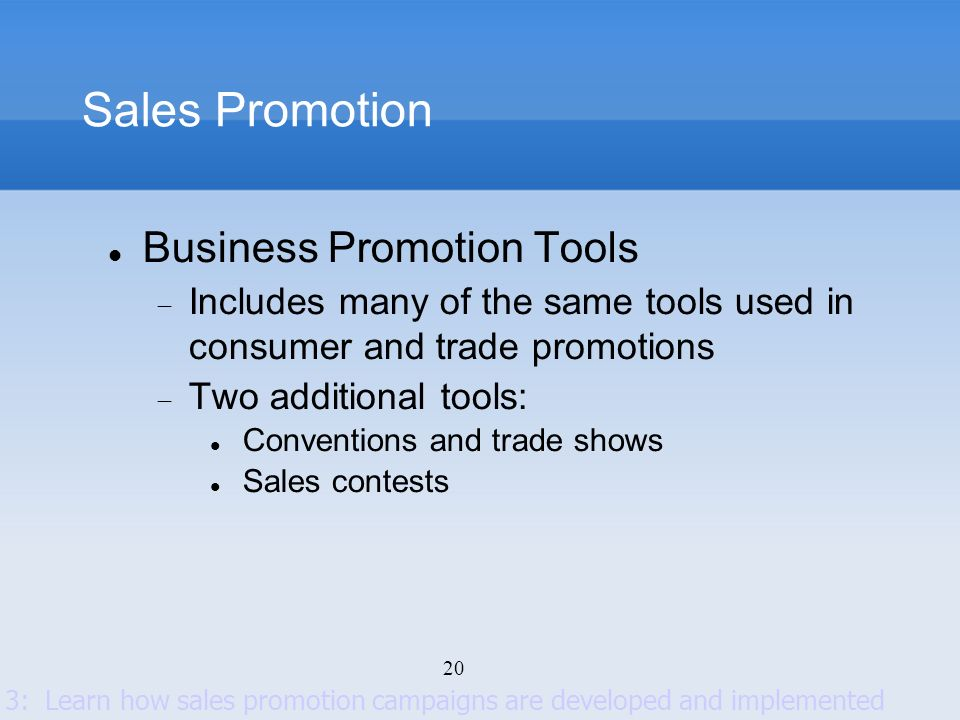 Sales Promotion Business Promotion Tools