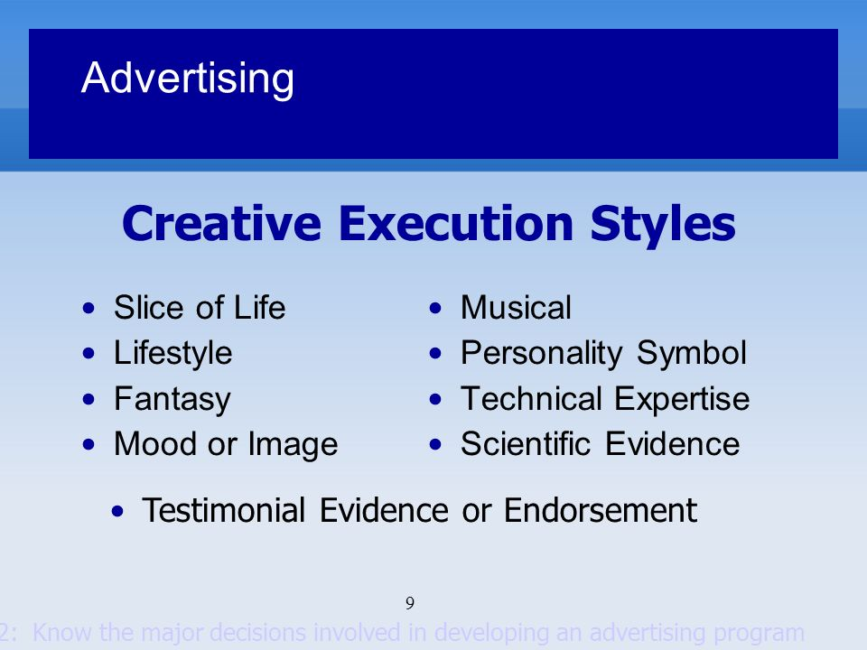 Creative Execution Styles