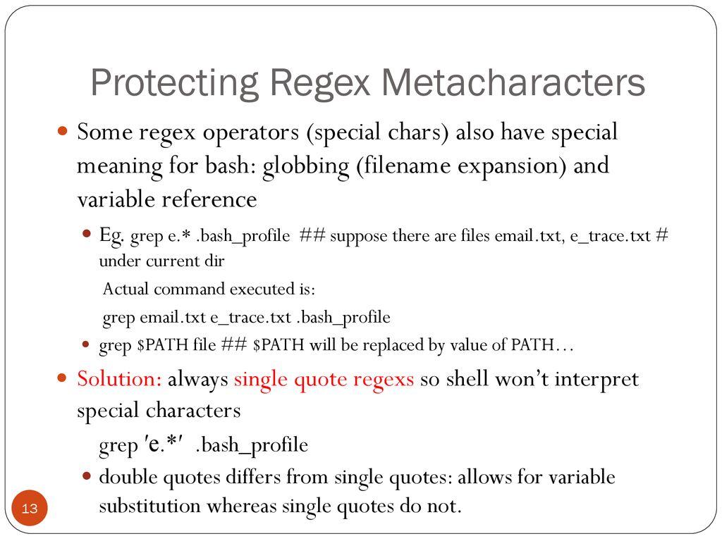 grep & regular expression - ppt download