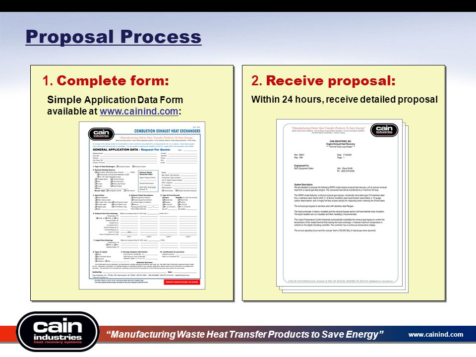 Proposal Process 80 1. Complete form: 2. Receive proposal: