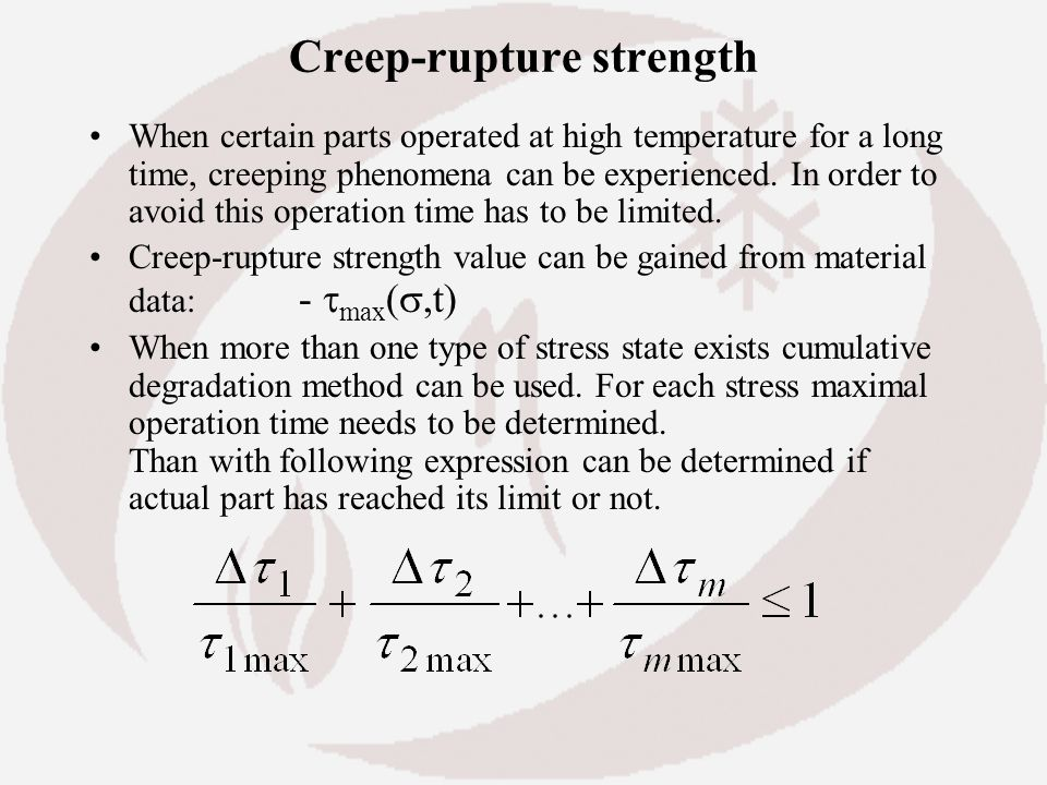 Creep-rupture strength