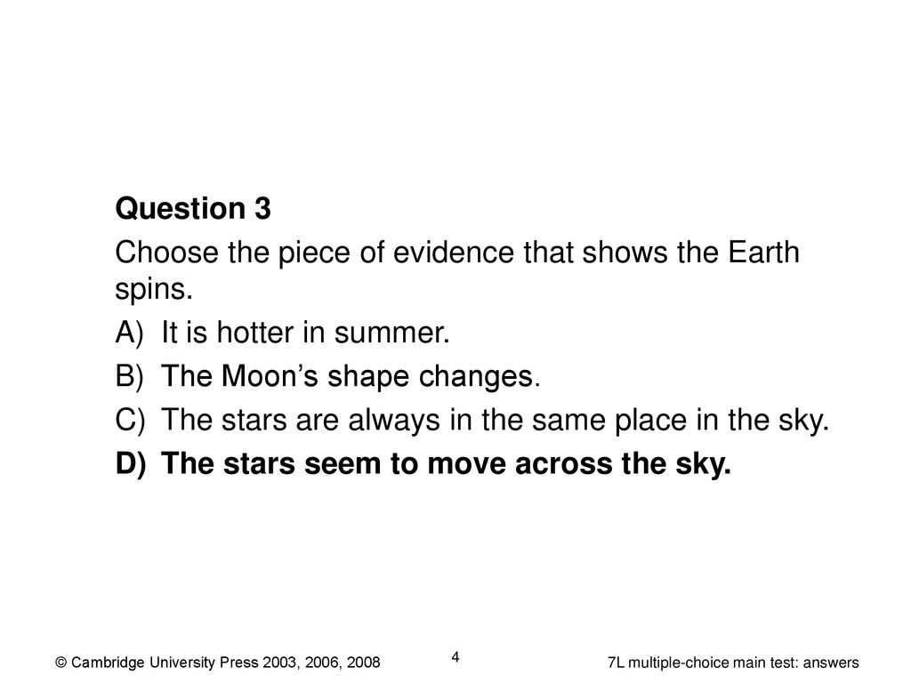 7A multiple-choice extension test: answers - ppt download