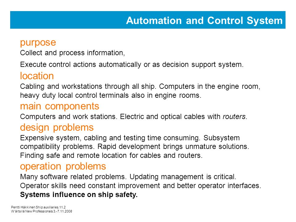 Automation and Control System