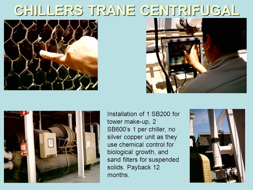 CHILLERS TRANE CENTRIFUGAL