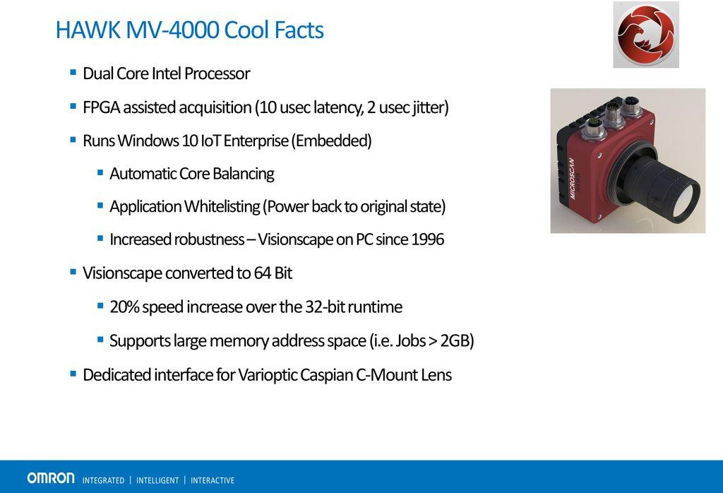 Omron Microscan HAWK MV-4000 High Performance Smart Camera