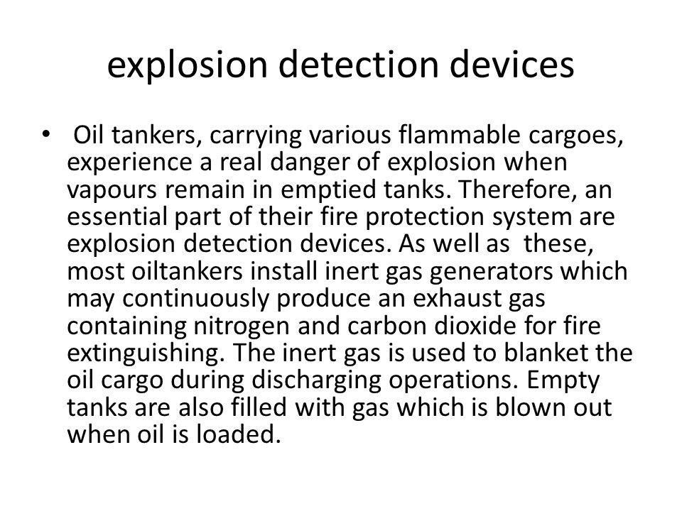 explosion detection devices