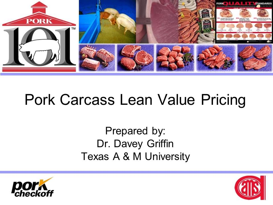 Pork Carcass Lean Value Pricing
