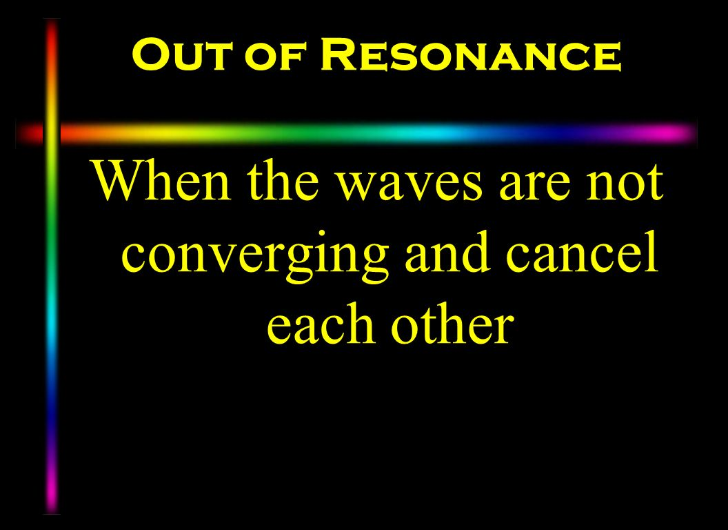When the waves are not converging and cancel each other