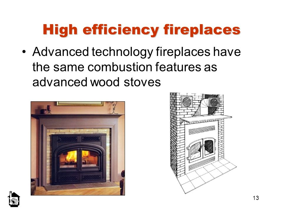 High efficiency fireplaces