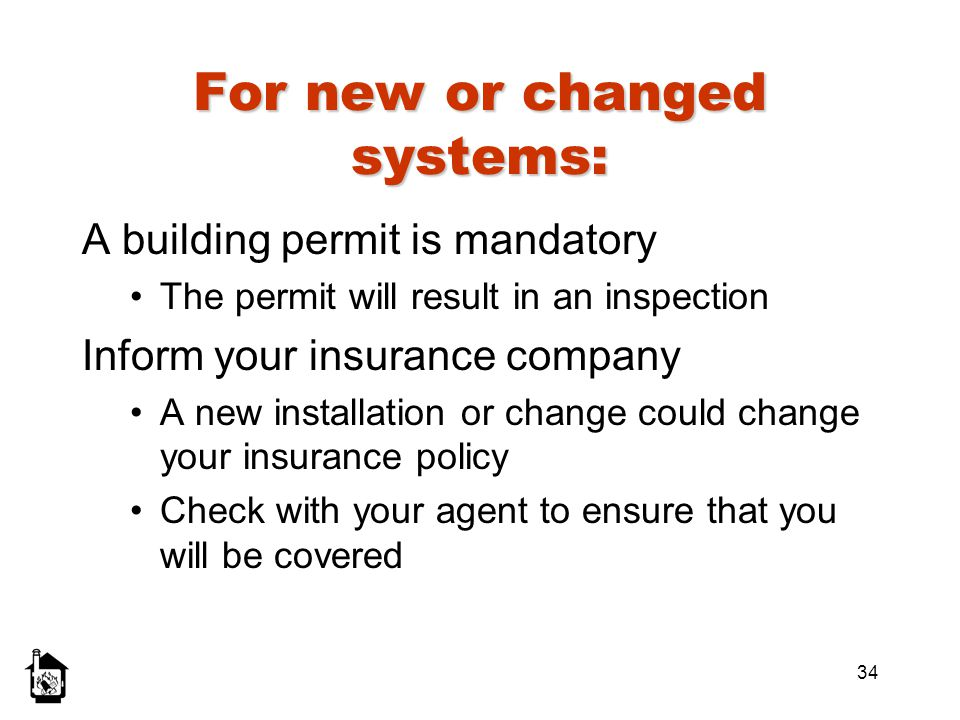 For new or changed systems: