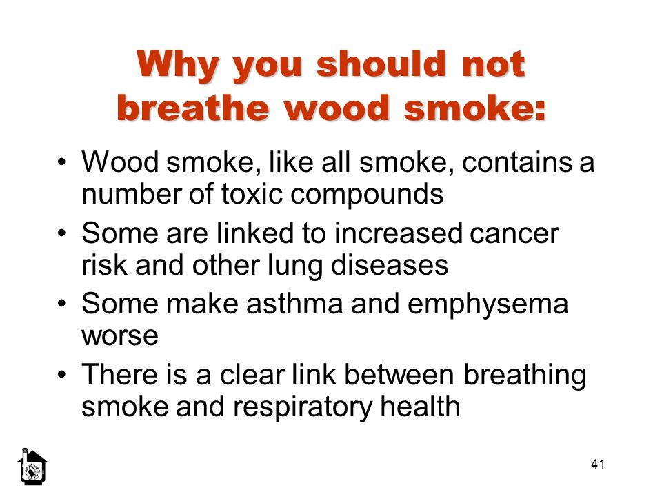 Why you should not breathe wood smoke: