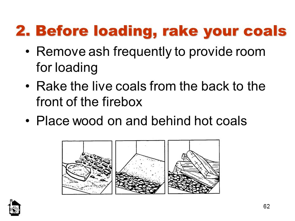 2. Before loading, rake your coals