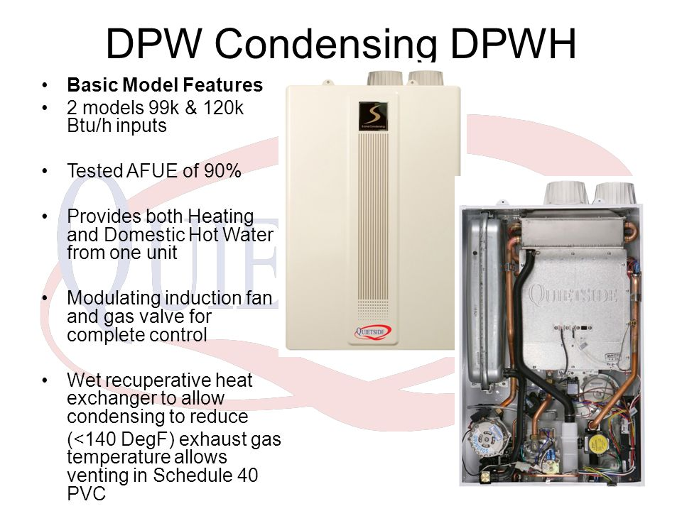 TECHNICAL QUIETSIDE DPW Dual Purpose Water Heating Season