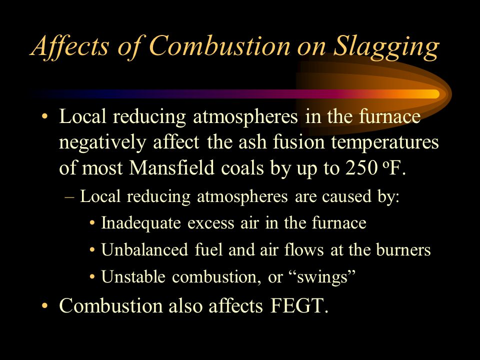 Affects of Combustion on Slagging