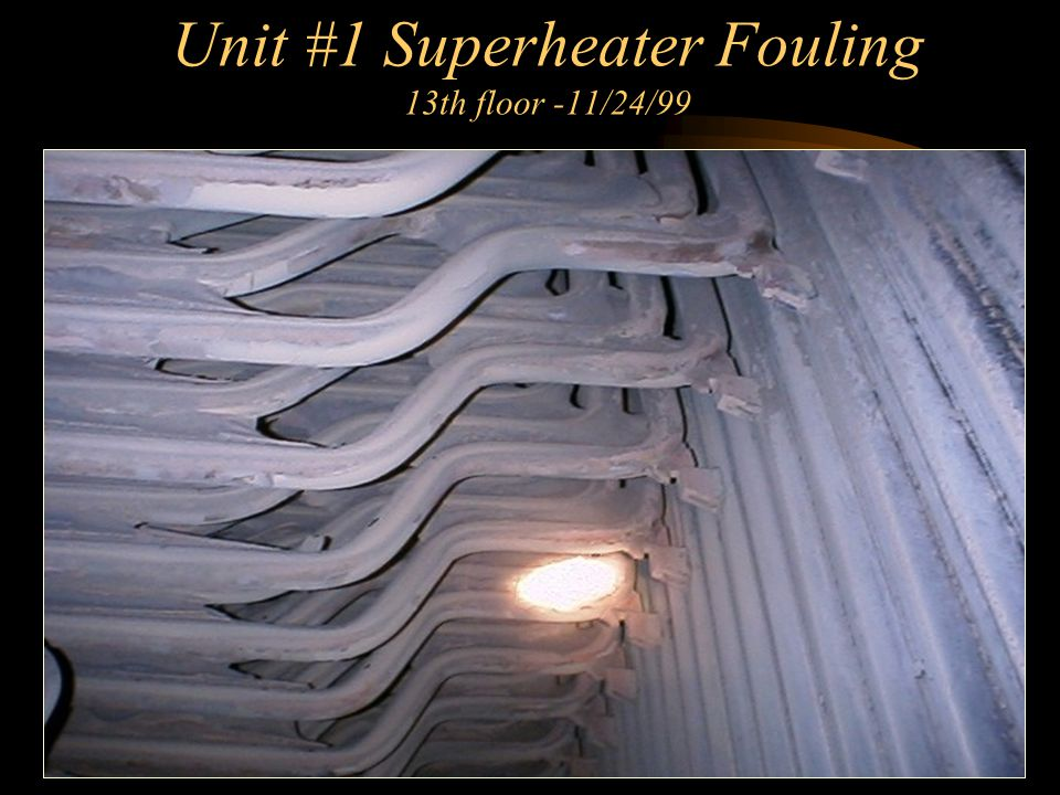 Unit #1 Superheater Fouling 13th floor -11/24/99