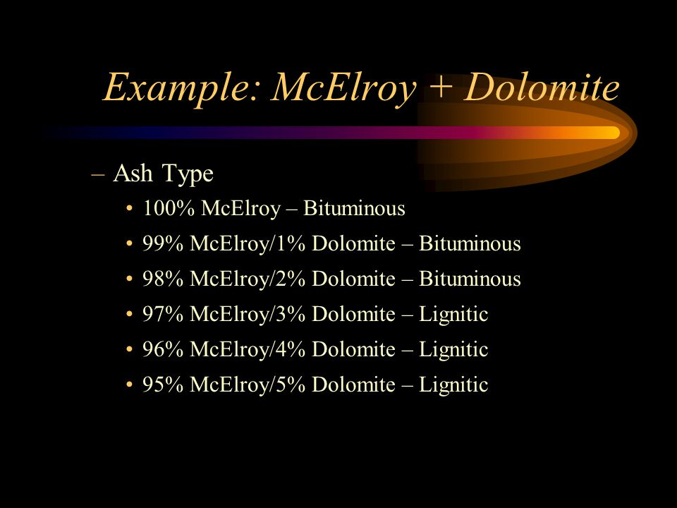Example: McElroy + Dolomite