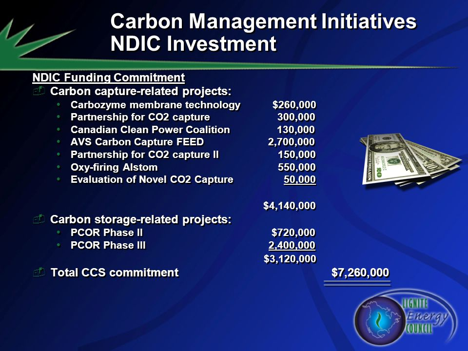 Carbon Management Initiatives NDIC Investment