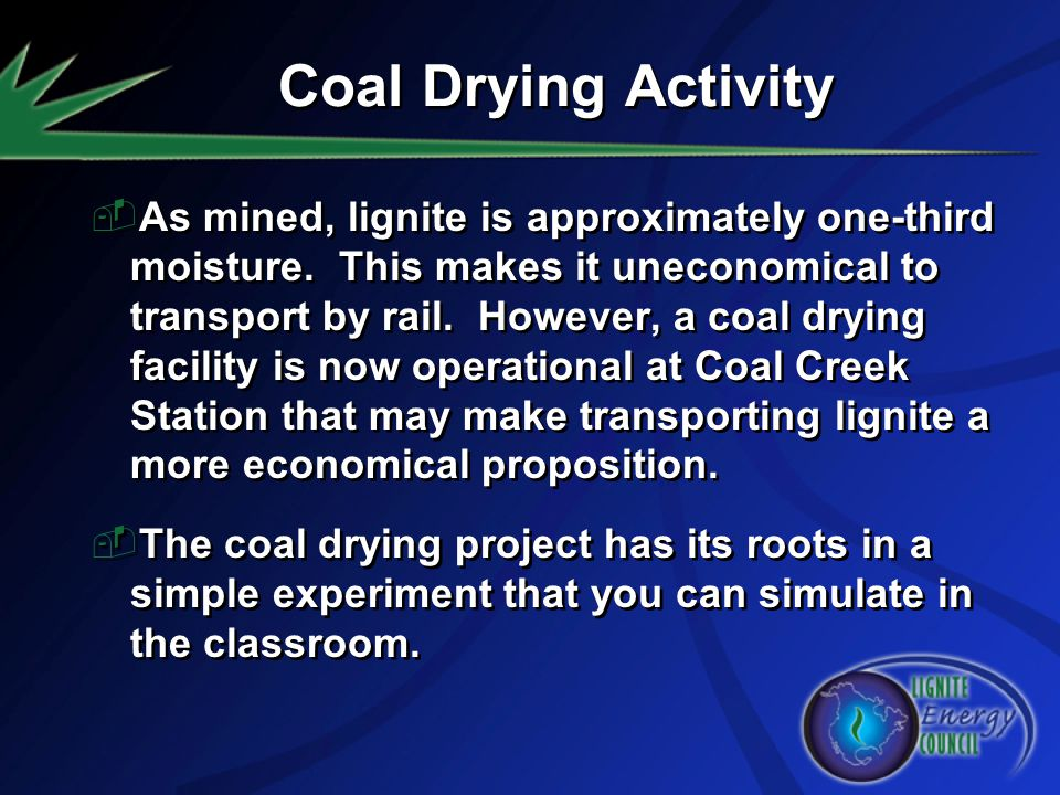 Coal Drying Activity