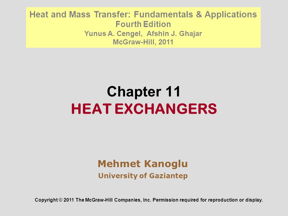 Chapter 11 HEAT EXCHANGERS
