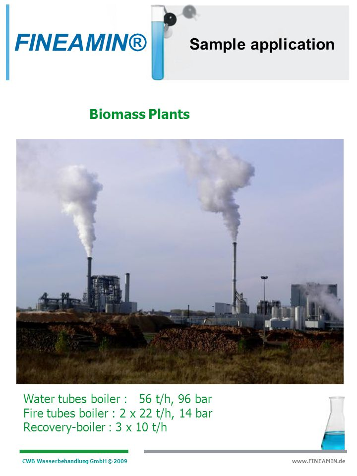 FINEAMIN® Sample application Biomass Plants