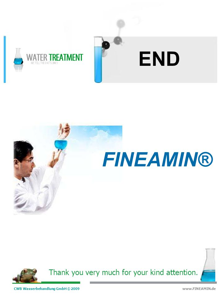 END FINEAMIN® Thank you very much for your kind attention.