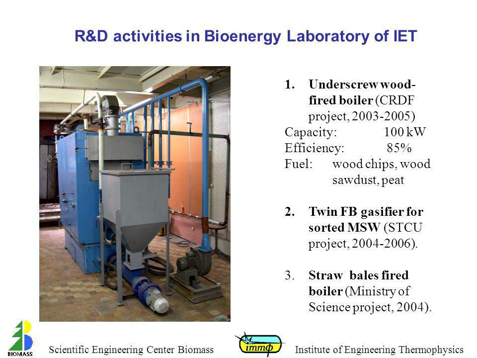 R&D activities in Bioenergy Laboratory of IET