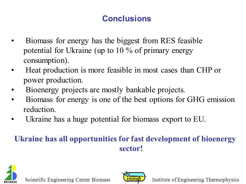Bioenergy projects are mostly bankable projects.