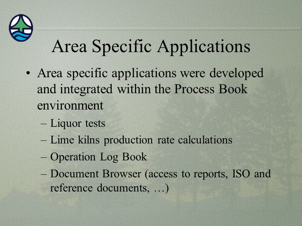 Area Specific Applications