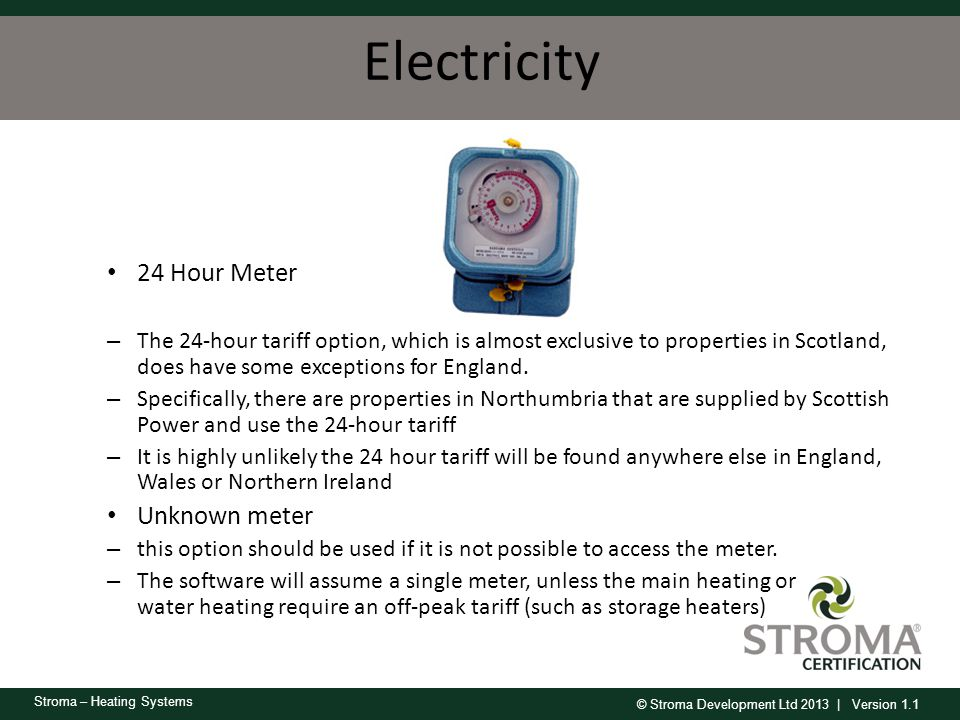 Electricity 24 Hour Meter Unknown meter