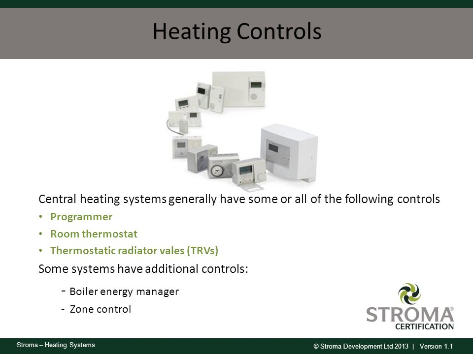 Heating Controls - Boiler energy manager