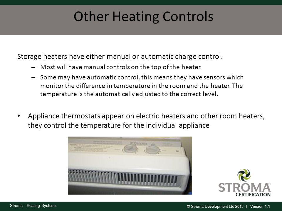Other Heating Controls