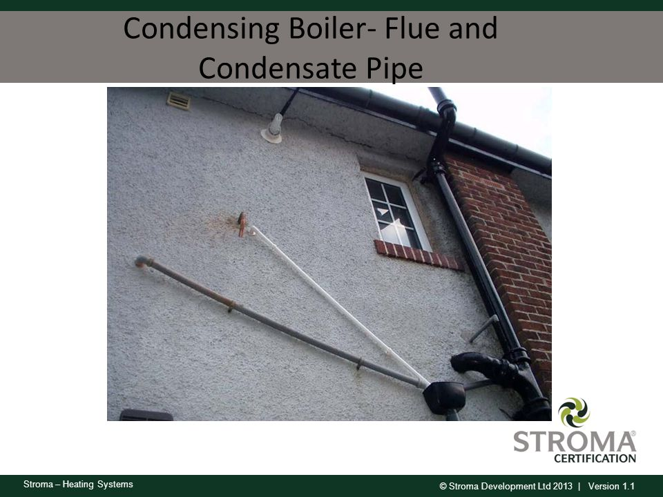Condensing Boiler- Flue and Condensate Pipe