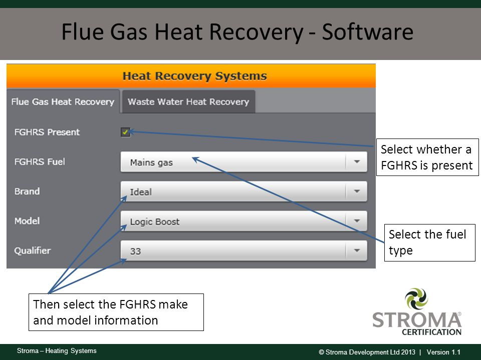 Flue Gas Heat Recovery - Software