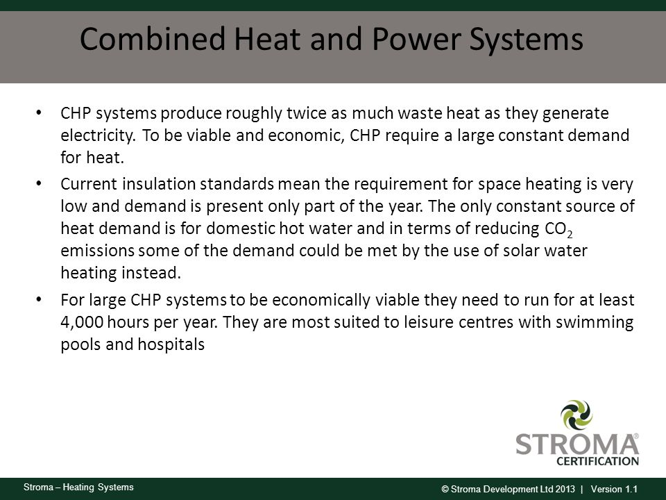 Combined Heat and Power Systems