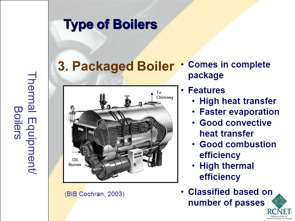 Type of Boilers 3. Packaged Boiler Thermal Equipment/ Boilers