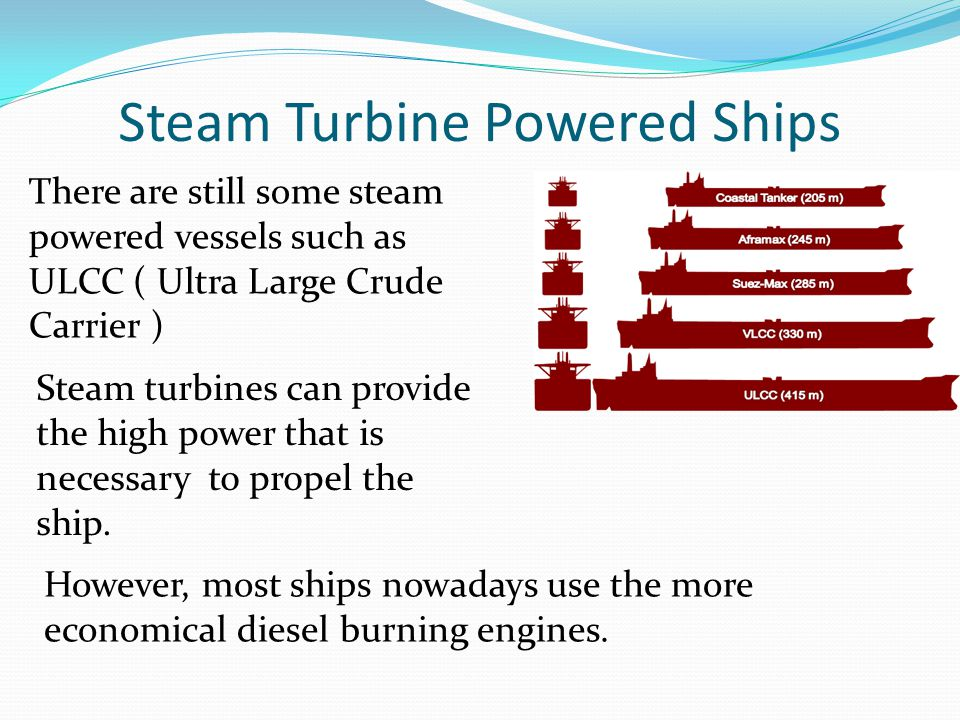 Steam Turbine Powered Ships